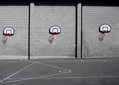 hooped (nolando) Tags: lines playground basketball wall composition contrast digital canon basket pavement multiples hoops simple 2008 nolando