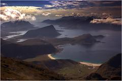 The beautiful beaches of Lofoten islands (steinliland) Tags: mountains beaches lofoten lofotenislands flakstad vestvågøy abigfave ysplix steinliland himmeltinden