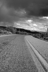Boulevard of Broken Dreams (forty-onecrush) Tags: road arizona clouds greenday desertroad saguarolake boulevardofbrokendreams iwalkalone