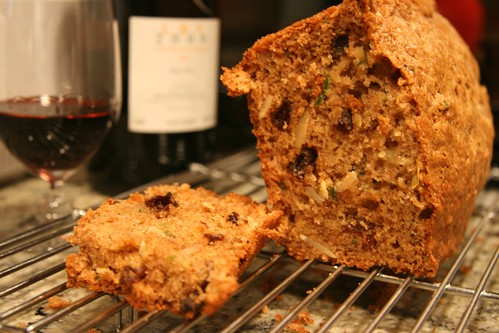 squash bread and port