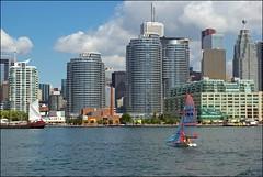 Queens Quay Condominiums (Jeannot7) Tags: toronto ontario sailboat waterfront quay queens lakeontario