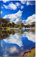 Alexandra Park (Muzammil (Moz)) Tags: park clouds reflections manchester bluesky oldham hdr alexandrapark lacashire afraaz muzammilhussain