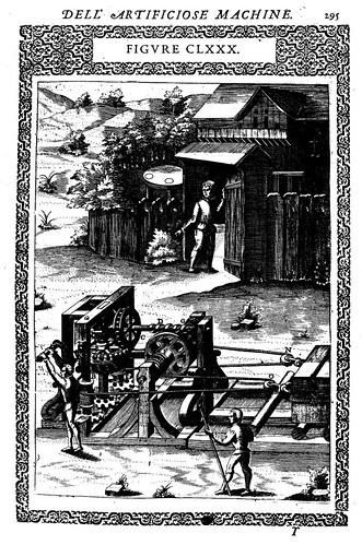 14- Maquina para tirar de un gran peso con la fuerza de un solo hombre