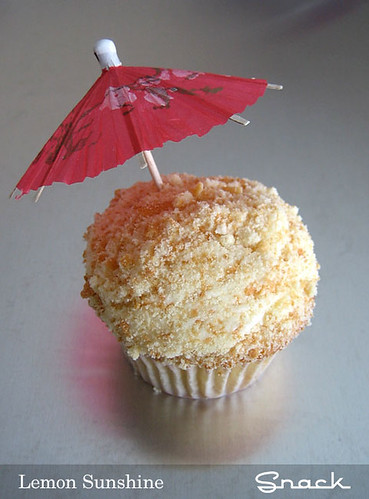 Lemon sunshine cupcake from Snack