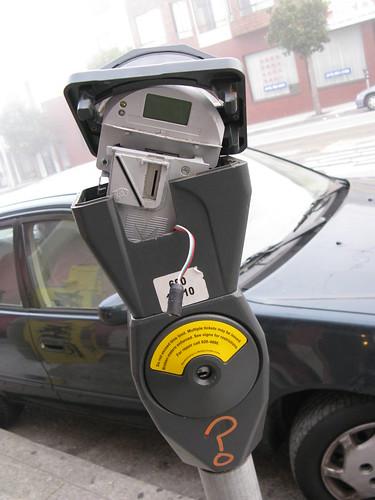 broken parking meter
