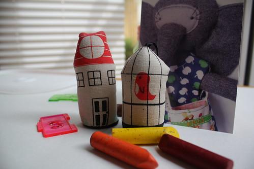 House + Bird & Cage