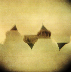 Parchment Castle (Dead  Air) Tags: sky sunlight blur building tower castle holga parchment fantasy olympia overexposed government steeples exposures bulbsetting superintendentofpublicinstruction