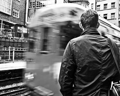 Time to Go (Jon Smalldon) Tags: street england man blur london underground back waiting baker metro tube railway line journey commuter met metropolitan uxbridge tfl homeward