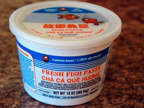 Fish paste.