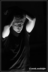 Illuminations (soulshiftr) Tags: light ohio portrait man male guy night matt model lowlight experimental cincinnati tshirt commercial oh relaxed lowkey composed testshoot lowkeylighting modelmayhem