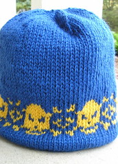Very Warm Hat with skulls