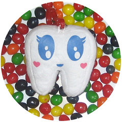 Toofhairy's Candy Bath! (Spok-spok) Tags: urban newyork cute smile fun toy happy design cool soft sweet designer treats swedish plush softie snack cuddly kawaii plushie giggling spok designertoy designerplush spoks spokspok toofhairy