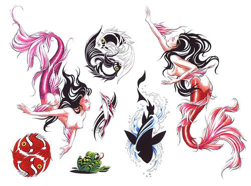 folletti fiori rose tattoo , tatuaggi lettere , tatuaggi polinesiani