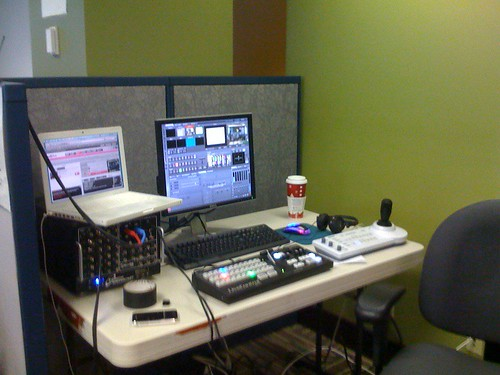 Video-streaming setup at #cyborgcamp