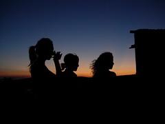Three (nice) girls (Car!) Tags: sunset sky woman black silhouette tramonto shadows ombra ombre cielo profilo eyecandyart