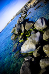 Tropical (Shakir's Photography) Tags: ocean blue sea sky green water pretty stones saudi arabia jeddah  turned flipped   shanko