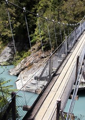 Hokitika Gorge Bridge (Logan R) Tags: bridge trees water canon eos rockflour 40d 28135mmisusm