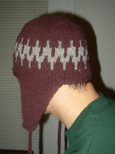 Fair Isle Earflap Hat for hubby