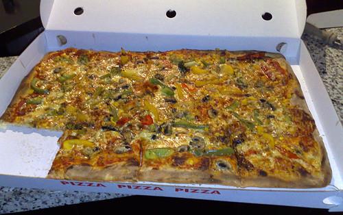Pizzablech vegetarisch