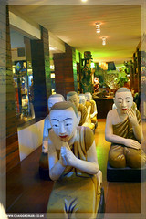 Thailand - Sculptures Villa Cha Cha, Bangkok (Craig Grobler) Tags: thailand temple bangkok monk streetlife buddhism thai vendor khaosan khaosanroad krungthep bhikkhu suvarnabhumi krungthepmahanakorn ckc1ne craiggrobler kingdomofthailand villachacha streetcuisine ratchaanajakthai