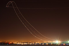 UPS 757 Departure (Another Attempt) (Kris Klop) Tags: longexposure night plane airplane lights fly flying airport aircraft aviation flight ups boeing 757 b757 earthnight