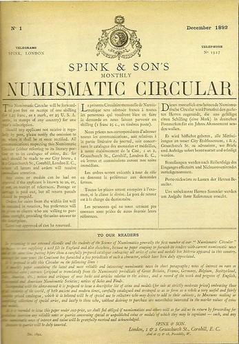 Spink Numismatic Circular #1