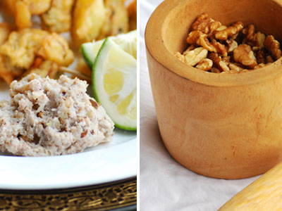 crushed walnut dip