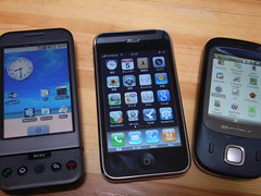 Google Phone vs iPhone 3G vs HTC Touch Dual