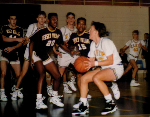 John Harmatuk playing basketball for Klein High School 1990.