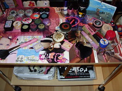 Trolley (pookiebf) Tags: pink inspiration mac display trolley urbandecay makeup kitsch storage retro collection organizer mascara cosmetics myroom maxfactor ud cathkidston barrym hardcandy
