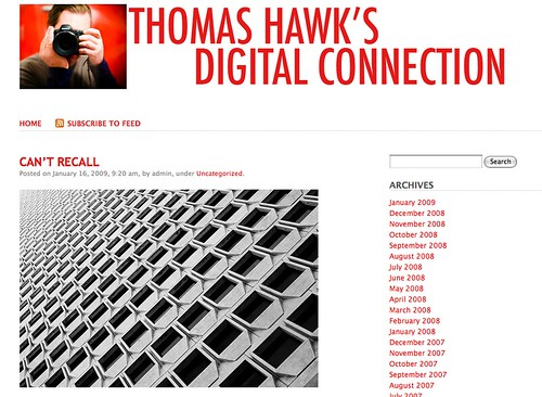 Thomas Hawk's Digital Connection, Now on WordPress