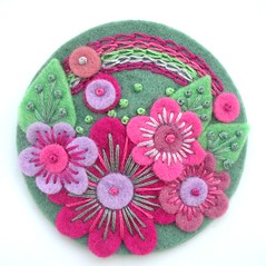 'OVER THE RAINBOW' FELT FLOWER BROOCH (APPLIQUE-designedbyjane) Tags: flower rainbow pin embroidery brooch felt corsage