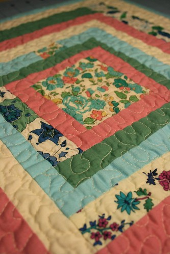 Liberty prints mini quilt detail