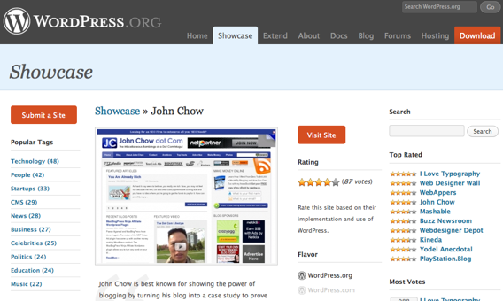 Being featured at WordPress.org