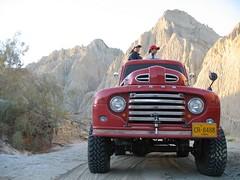 Brand new F1 (Grumpy_y) Tags: old pakistan red ford rock truck jeep offroad hunk f1 karachi rebuild beautifull