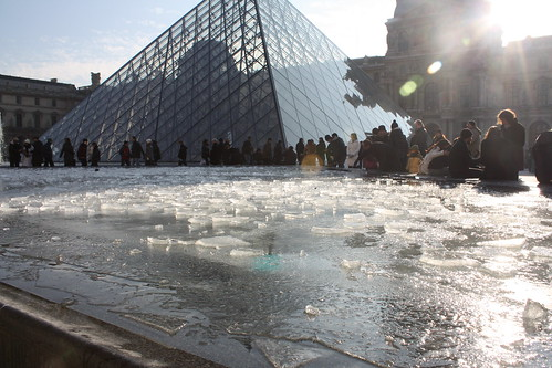 Ice at the Louvre