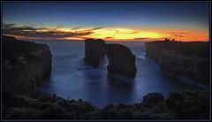 Nature's arch 2. (tassie303) Tags: sunset photoshop canon landscape scenic australia victoria cliffs greatoceanroad hdr photomatix portcampbellnationalpark lockardgorge perpetualtravellers