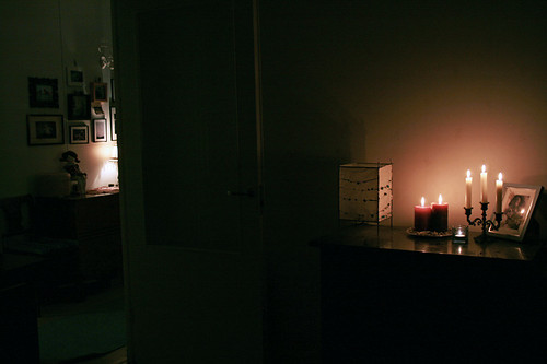Candles in Livingroom