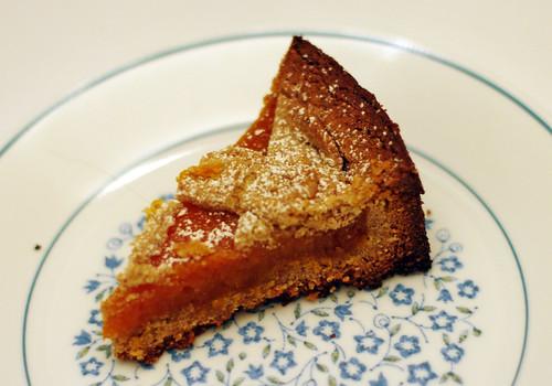 slice of apricot torte