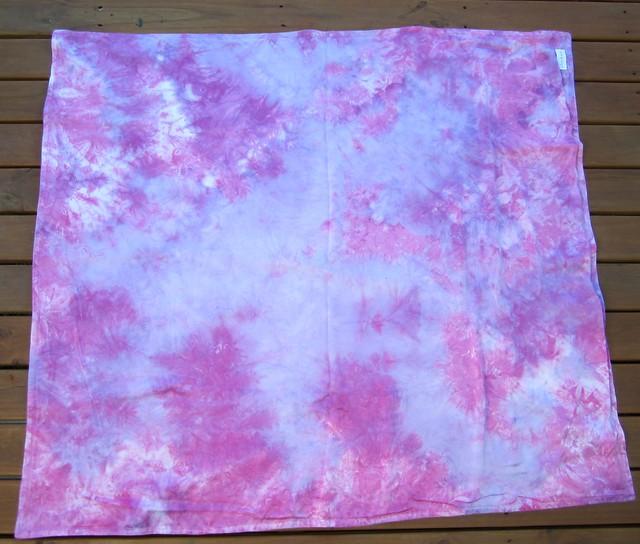 pink-violet silk blanket