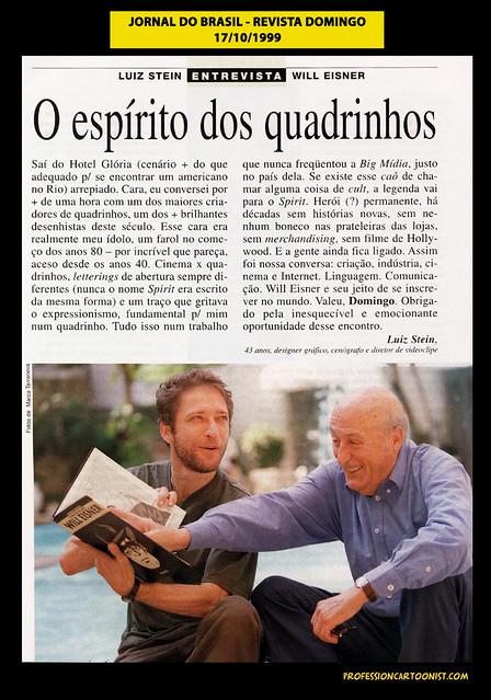 """""""O espírito dos quadrinhos"""" - Jornal do Brasil - 17/10/1999"""