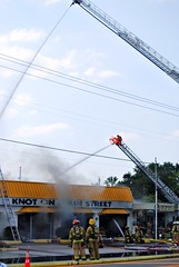 blasting the fire in dunedin (tiffanycsteinke) Tags: fire mainstreet florida alt knot dunedin 19 bayshore 6811