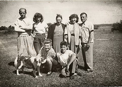 Jackson Pollock, Lee Krasner with friends and family, ca. 1950