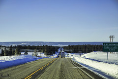 Yellowstone National Park - Winter 2014 (RickDrew) Tags: road park travel trees winter vacation snow cold tree ice tarmac forest canon volcano frozen highway driving freezing steam national caldera yellowstone geothermal 2014 geiser 5dmkiii