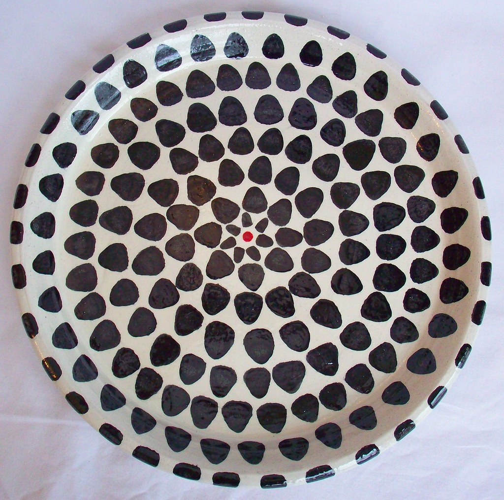 Black,white and red Scale Platter
