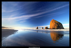 Cannon Beach - Where else? (Arnold Pouteau's) Tags: ocean sea oregon sunrise cannonbeach shores pacificcoast supershot abigfave anawesomeshot superbmasterpiece diamondclassphotographer flickrdiamond ysplix goldstaraward