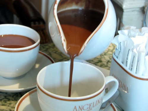 glorious angelina's hot chocolate Paris France
