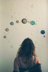 (yyellowbird) Tags: selfportrait girl wall stars lookup glowinthedark galaxy planets cari