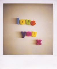 . (Rebecca...) Tags: film polaroid sx70 fridge tripod letters magnets alphabet blend loveyou clich hadtobedone savepolaroid ihatedigitalforkillingpolaroid