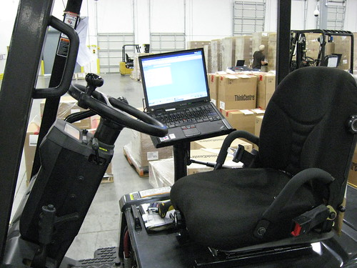 ThinkPad on Forklift